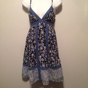 Mossimo XS midi Sundress blue Floral #A3